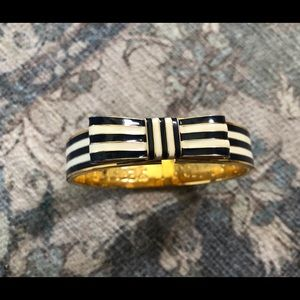 COACH Poppy Bow Enamel Bangle Bracelet